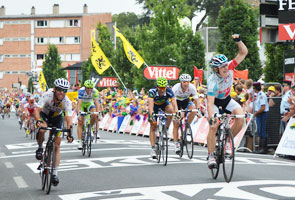 The 10th stage of the Tour de France 2011 sprinted for victory by André Greipel