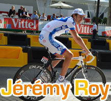 Jérémy Roy (FDJ), super combative rider of the Tour de France 2011: attacking is my way of riding