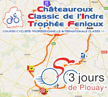 The race course of the Classic de l'Indre and of the Grand Prix de Plouay 2011 on Google Maps / Google Earth