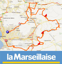 Opening race of the European cycling season: the Grand Prix Cycliste la Marseillaise 2012, its race route on Google Maps/Google Earth and the participating teams