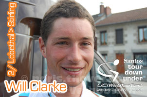 Tour Down Under 2012: Will Clarke (UniSA-Australia) solo to victory on the tops of Stirling