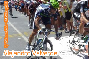 Tour Down Under 2012 : Old Willunga Hill keeps its promises, Alejandro Valverde makes his comeback