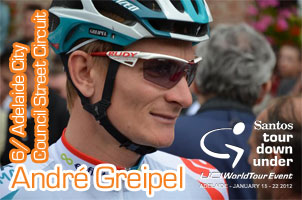 3rd stage victory for André Greipel, the overall victory of the Tour Down Under 2012 for Simon Gerrans