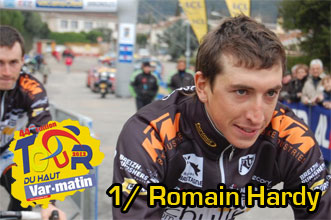 Romain Hardy wins the first stage of the Tour du Haut Var-Matin 2012