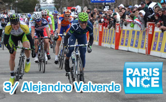 Paris-Nice 2012 : Alejandro Valverde turns out to be the strongest at the Lac de Vassivière