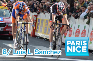 Paris-Nice 2012: the sun of Sisteron shining on Luis Leon Sanchez' face