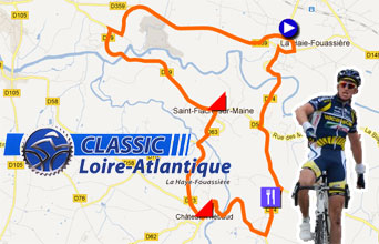 The Classic Loire Atlantique 2012 race route on Google Maps and the list of participating riders (and their bib numbers)