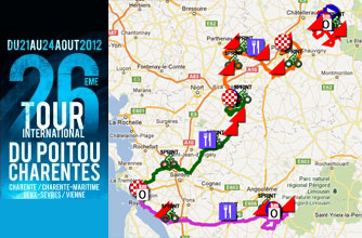Tour Poitou-Charentes 2012: its race route in Google Maps/Google Earth and the time- and route schedules and stage profiles