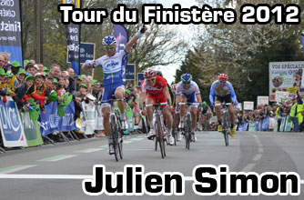 Julien Simon wins the Tour du Finistère 2012 in the sprint