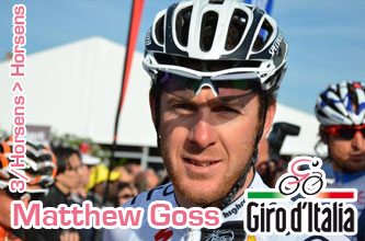 New crash for Taylor Phinney, Matthew Goss wins the 3rd stage of the Giro d'Italia 2012 in a sprint