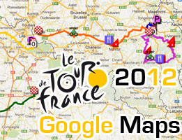 Tour de France 2012: the race route on Google Maps/Google Earth, the profiles and time schedules
