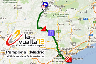 Google Earth Map Of Spain.Tour Of Spain 2012 The Race Route On Google Maps Google Earth The