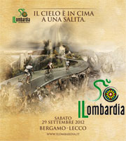 The Tour of Lombardia 2012 race route on Google Maps/Google Earth, profile and time- and route schedule