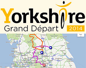 All details of the Grand Départ of the Tour de France 2014, race route on Google Maps