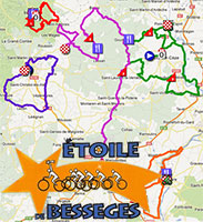 The Etoile de Bessèges 2013 race route on Google Maps/Google Earth