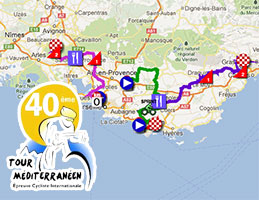 The Tour Med 2013 race route on Google Maps/Google Earth