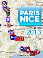 The Paris-Nice 2013 race route on Google Maps/Google Earth, time- and route schedules and profiles