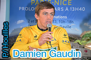 Damien Gaudin fastest time trialler in Houilles for the Paris-Nice 2013 prologue