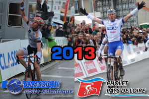 The Classic Loire Atlantique and Cholet-Pays de Loire 2013 race route on Google Maps