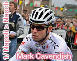Giro d'Italia 2013: the first pink jersey for Mark Cavendish, at the sprint in Naples