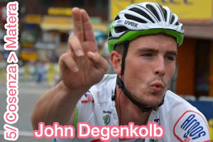 John Degenkolb, as expected at the finish of the 5th stage of the Tour of Italy 2013 - summary