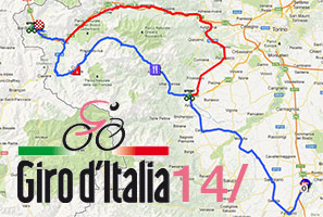 The new race route of the 14th stage of the Giro d'Italia 2013: Cervere > Bardonecchia