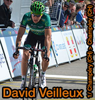 David Veilleux alone till the end in the first stage of the Critérium du Dauphiné 2013 in Champéry