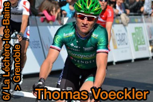 Thomas Voeckler shows off his strength in Grenoble at the Critérium du Dauphiné 2013