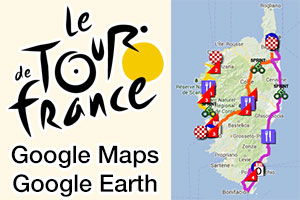 The Tour de France 2013 race route on Google Maps/Google Earth, stage profiles and other details