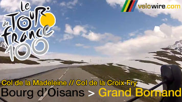 The Col de la Madeleine and the Col de la Croix Fry in video images down to Le Grand-Bornand