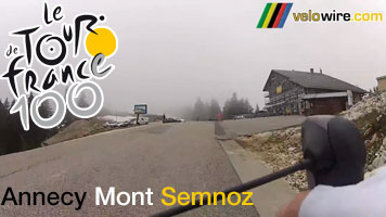 The Mont Semnoz as the final big climb of the forelast Tour stage - the race route in video !