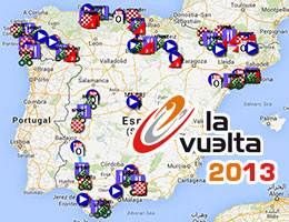 The Tour of Spain 2013 race route on Google Maps/Google Earth and the stage profiles