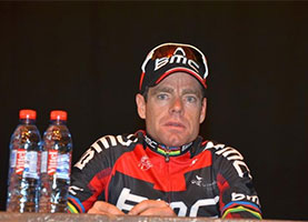 Cadel Evans goes double in the Tour Down Under thanks to his attack on the climb of Corkscrew Road
