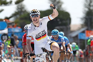 André Greipel takes his long expected victory in the Tour Down Under 2014