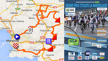 The Grand Prix Cycliste la Marseillaise 2014, its race route on Google Maps/Google Earth and the participating teams