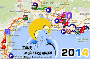 The Tour Med 2014 race route on Google Maps/Google Earth, itinerary tables and stage profiles