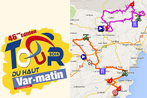 The Tour du Haut Var 2014 race route on Google Maps/Google Earth, itinerary tables and stage profiles