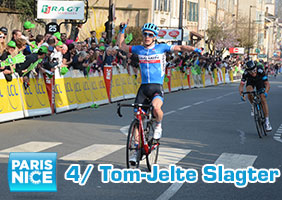 Tom-Jelte Slagter takes his first victory for Garmin-Sharp in Belleville!