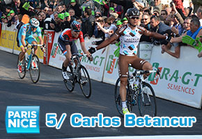 Carlos Betancur wins the stage in Rive-de-Gier and takes an option on the yellow jersey in Paris-Nice 2014