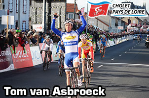 Tom van Asbroeck wins Cholet Pays de Loire in a sprint with the race's breakaway
