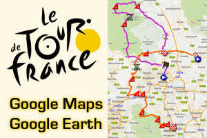 The Tour de France 2014 race route on Google Maps/Google Earth, stage profiles and other details