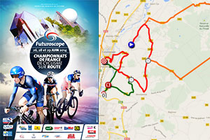The French Championships 2014 race routes in Google Maps/Google Earth