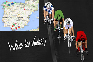 The Tour of Spain 2014 race route on Google Maps