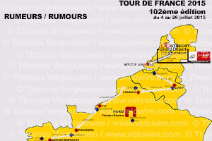 Tour de France 2015: the rumours about the race route and the stage cities!