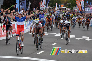 Arnaud Démare (FDJ.fr) wins the Grand Prix d'Isbergues 2014, for the 2nd time in row