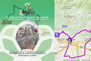 The Tour of Lombardy 2015 on Google Maps/Google Earth, profile and