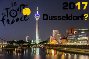 De voorbereiding voor de Tour de France 2017 is al in volle gang: het Grand Départ in Düsseldorf (Duitsland)?