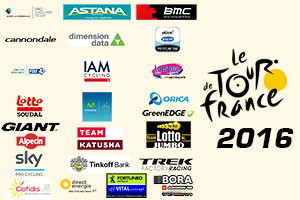 The teams selection for the Tour de France 2016: like last year