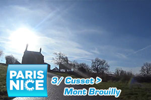 A preview of the final circuit of Paris-Nice 2016's third stage with the Mont Brouilly in video
