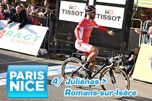 Nacer Bouhanni takes his revenge: winner of the sprint for the Paris-Nice stage win in Romans-sur-Isère